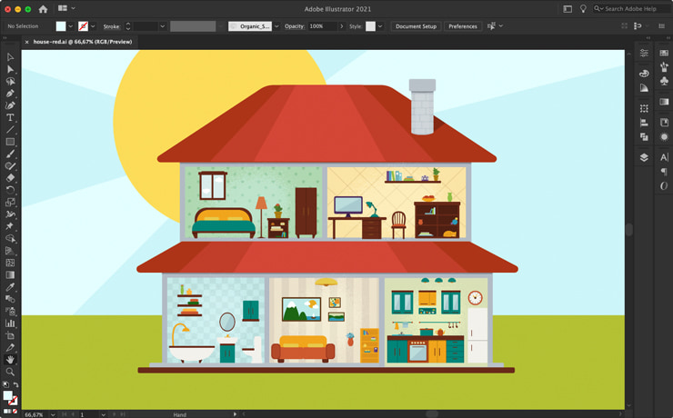 Adobe Illustrator interface