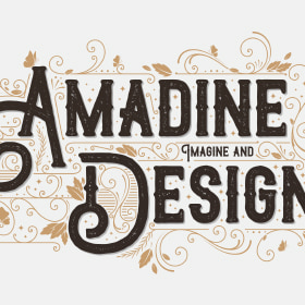 Downloadable sample of text design in Amadine
